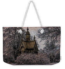 Weekender Tote Bag featuring the digital art Winter Gothik by Chris Lord