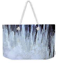 Winter Gray Weekender Tote Bag
