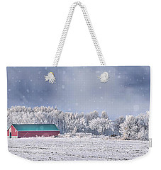 Winter Grey County Weekender Tote Bag