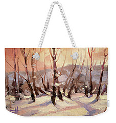 Winter Grove Weekender Tote Bag
