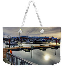 Weekender Tote Bag featuring the photograph Winter Harbor by Chriss Pagani