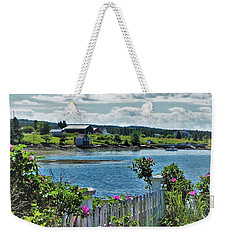 Winter Harbor Weekender Tote Bag