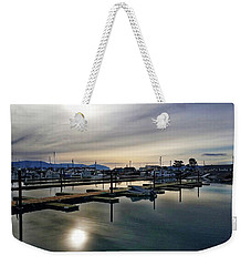 Weekender Tote Bag featuring the photograph Winter Harbor Revisited #mobilephotography by Chriss Pagani