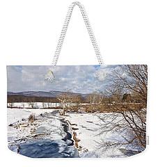 Winter Hike Weekender Tote Bag