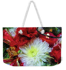 Weekender Tote Bag featuring the photograph Winter Holiday  by Peggy Hughes