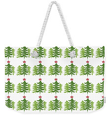 Winter Holiday Trees 1-  Art By Linda Woods Weekender Tote Bag
