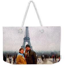 Winter Honeymoon In Paris Weekender Tote Bag