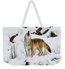 Winter Howl Weekender Tote Bag by Steve McKinzie