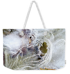 Weekender Tote Bag featuring the photograph Winter Ice by Christina Rollo