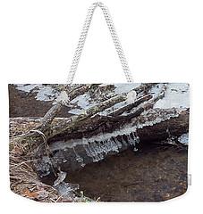 Winter Ice Dam Weekender Tote Bag
