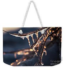 Winter Ice Weekender Tote Bag