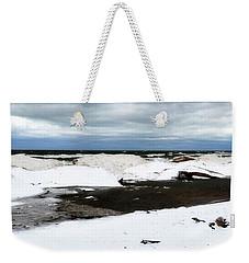 Winter Ice On Lake Michigan 3.0 Weekender Tote Bag