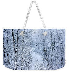 Winter Ice Storm Weekender Tote Bag