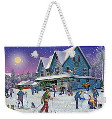 Winter In Campton Village Weekender Tote Bag