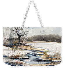 Winter In Caz Weekender Tote Bag by Judith Levins