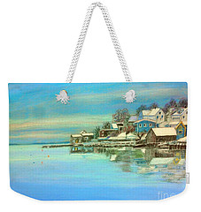 winter in Chester ,Nova Scotia  Weekender Tote Bag