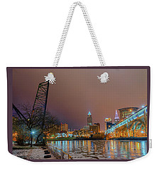 Winter In Cleveland, Ohio  Weekender Tote Bag