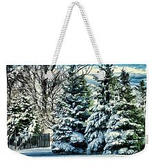 Winter In New England Weekender Tote Bag