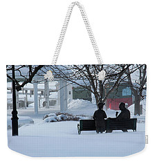 Winter In New Hampshire Weekender Tote Bag