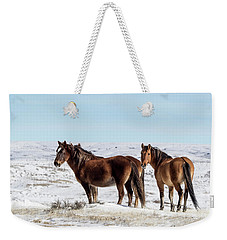 Winter In Sand Wash Basin - Wild Mustangs Weekender Tote Bag