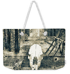 Weekender Tote Bag featuring the photograph Winter In The In The Woods by Ronda Broatch
