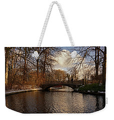 Weekender Tote Bag featuring the photograph Winter In The Park- 365-277 by Inge Riis McDonald