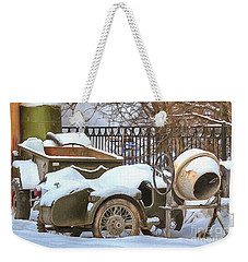 winter in the village Russian Weekender Tote Bag