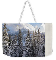 Winter In The Wasatch Weekender Tote Bag