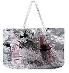 Winter Infrared Cemetery Weekender Tote Bag
