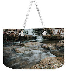 Weekender Tote Bag featuring the photograph Winter Inthe Falls by Iris Greenwell