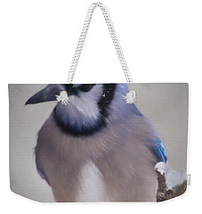 Winter Jay Weekender Tote Bag by Lana Trussell