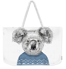 Winter Koala Weekender Tote Bag