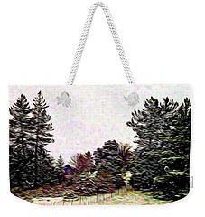 Winter Landscape 1 In Abstract Weekender Tote Bag