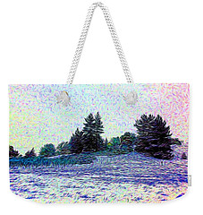 Winter Landscape 2 In Abstract Weekender Tote Bag