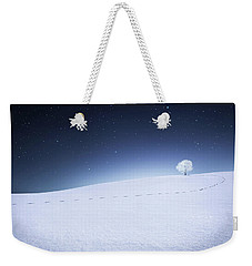 Weekender Tote Bag featuring the photograph Winter Landscape by Bess Hamiti
