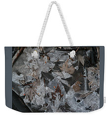 Winter Leaf Abstract-i Weekender Tote Bag by Patricia Overmoyer