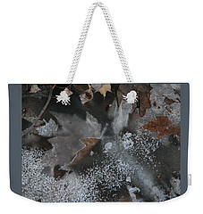 Winter Leaf Abstract-ii Weekender Tote Bag by Patricia Overmoyer