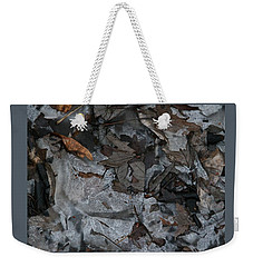 Winter Leaf Abstract-iii Weekender Tote Bag by Patricia Overmoyer