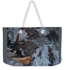 Winter Leaf Abstract-iv Weekender Tote Bag by Patricia Overmoyer