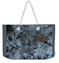 Winter Leaf Abstract-v Weekender Tote Bag by Patricia Overmoyer