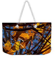 Winter Leaf Weekender Tote Bag by Derek Dean