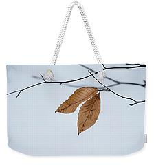Winter Leaves Weekender Tote Bag