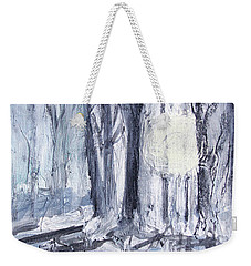 Weekender Tote Bag featuring the painting Winter Light by Robin Maria Pedrero