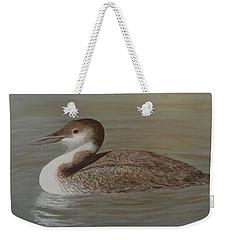 Winter Loon Weekender Tote Bag