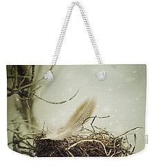 Weekender Tote Bag featuring the photograph Winter Lullaby by Amy Weiss