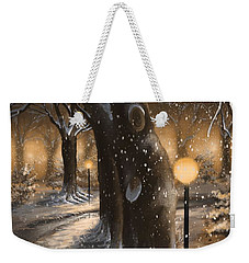 Weekender Tote Bag featuring the painting Winter Magic by Veronica Minozzi