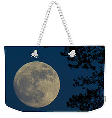 Winter Moon Weekender Tote Bag