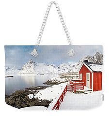Winter Morning Weekender Tote Bag by Alex Conu