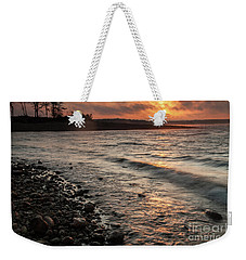 Weekender Tote Bag featuring the photograph Winter Morning At The Vetran's Lake by Iris Greenwell