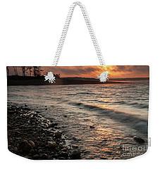 Winter Morning At The Vetran's Lake Weekender Tote Bag by Iris Greenwell